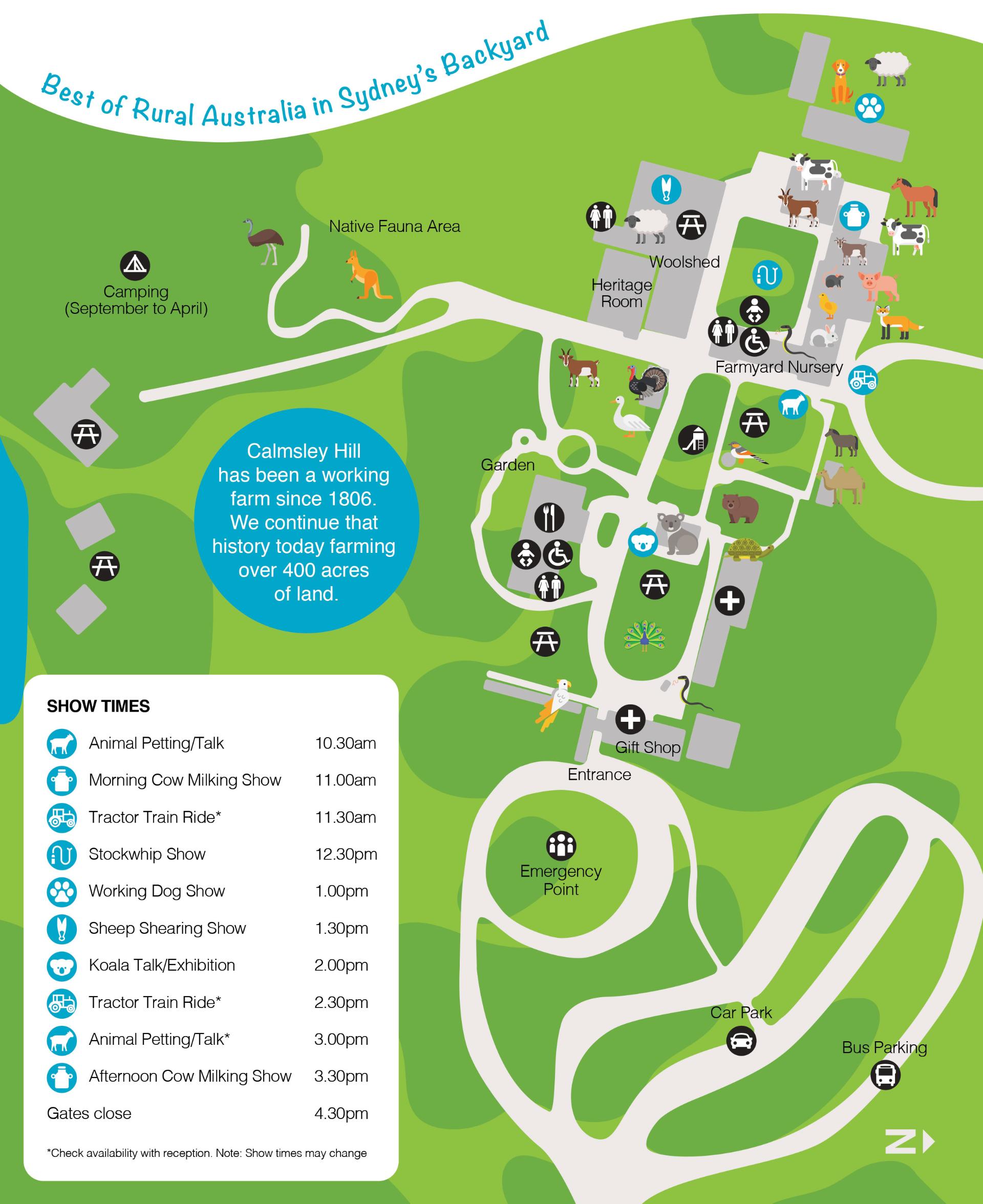 Calmsley Hill City Farm Map